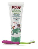 Nûby Citroganix Toddler Training Pink/Green Toothpaste & Toothbrush