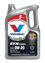 Valvoline Synpower® Full Synthetic 0W-20 Motor Oil, 5 L