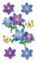 Jolee's 3D Stickers Purple Flowers