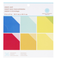 "Martha Stewart Crafts Paper Pad 8x8"" Solids Brights"