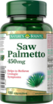 Nature's Bounty Saw Palmetto 450mg 100 Capsules