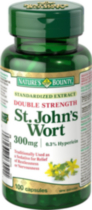 Nature's Bounty Double Strength St. John's Wort 300mg 100 Capsules