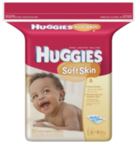Huggies Soft Skin Wipes Refill - 184 count