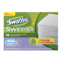 Recharges de linges secs Swiffer Sweeper lavande vanillée