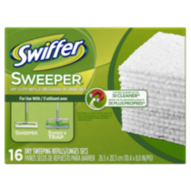 Recharges de linges secs Swiffer Sweeper, 16 unités