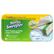 Recharges de linges humidifiés SwifferMD Sweeper