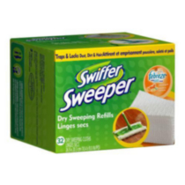 Recharge de 32 linges secs Swiffer Sweeper Agrumes et luminosité