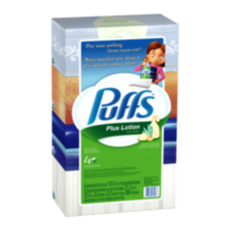 Puffs Plus Lotion white facial tissue, 4 Boxes