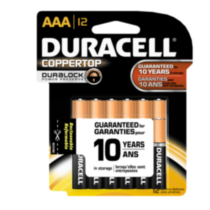 Duracell Coppertop AAA 12