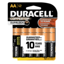 Duracell Coppertop AA Batteries, 12 Pack