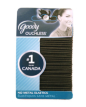 Goody Ouchless® Thin Elastics, Black