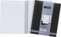 Cambridge® Wirebound Pads, notebook, side bound, white, margin , 9-1/2 x 7-1/4, 160 Pages