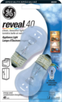 GE Reveal 40W Appliance Bulb 2pk