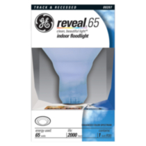 GE 65W Reveal Indoor Floodlight Bulb, 1pk