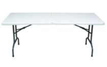 GSC 6 ft White Centerfolding Table