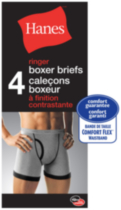 4-pack Ringer Boxer Briefs Hanes Large