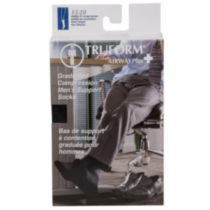 Truform® Men's Dress Support Socks - Black Extra Large