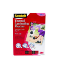 Scotch(R) Thermal Pouches TP5903-20-C, 5.31 in x 7.28 in