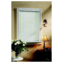 "White 1"" Light Filtering Mini Blind 26x64"