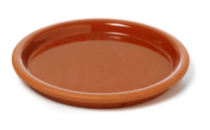Clay Saucer Glazed 9.5""
