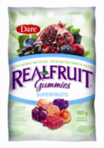 Bonbons RealFruit Gummies superfruits de Dare