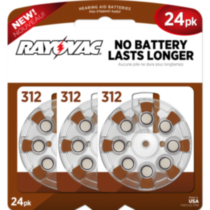 Rayovac Size 312 Hearing Aid Batteries - 24 pack
