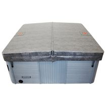 Canadian Spa Co. Square Hot Tub Cover with 5 in/3 in Taper - Grey 84in x 84in