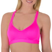 g:21 Women's Yoga Push Up Sports Bra Electric Pink Small