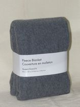 Grey Label Fleece Blanket Grey Queen