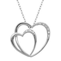 PAJ Sterling Silver Double Heart Pendant