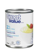 Great Value 2% Partly Skimmed Evaporated Milk