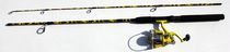 Outdoor Angler 6' Transformer Fishing Rod & Reel Combo Yellow
