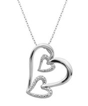 PAJ Sterling Silver Triple Heart Pendant