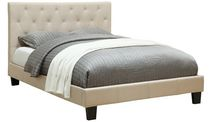 Worldwide Homefurnishings Concord Queen Size Natural Linen Bed