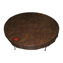 Canadian Spa Co. Round Spa Cover with 5 in/3 in Taper - Brown 78in di.