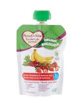 Parent's Choice Organic Banana, Strawberry & Beetroot Juice Baby Food Purée