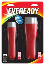 Eveready LED Flashlight + 2AA and 2D Combo Batteries