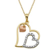 PAJ Sterling Silver Gold Plated Triple Heart Pendant