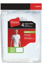 Hanes Men's Tagless T-Shirts, Pack of 4 L