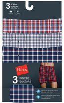 Hanes Men's Tagless Woven Boxers, Pack of 3 L/G