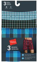 Hanes Men's Tagless Woven Boxers, Pack of 3 S/P