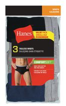 Hanes Men's Tagless Briefs, Pack of 3 L/G