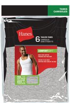 Hanes Men's Tagless Tanks, Pack of 6 L