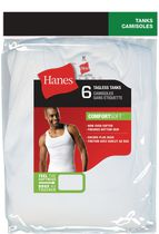 Hanes Men's Tagless Tanks, Pack of 6 M