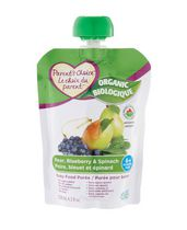 Parent's Choice Organic Pear, Blueberry & Spinach Baby Food Purée