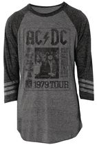 Licensed Tees Men's Raglan Sleeve AC/DC Jersey XL/TG