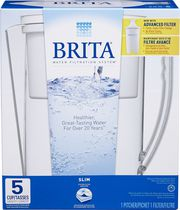 Brita® Slim Water Filtration Pitcher