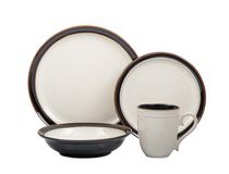 Hometrends 16 Piece Bazaar Brown Dinnerware Set