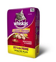 Whiskas Dry Meaty 10.5kg Bonus Bag