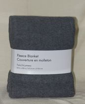 Couverture en molleton de Grey Label Gris Simple